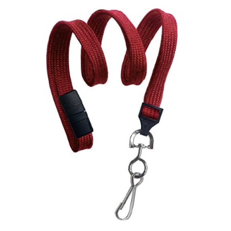 Dual Core 2137-5006 | Lanyard 3/8IN RED FLAT BRAID