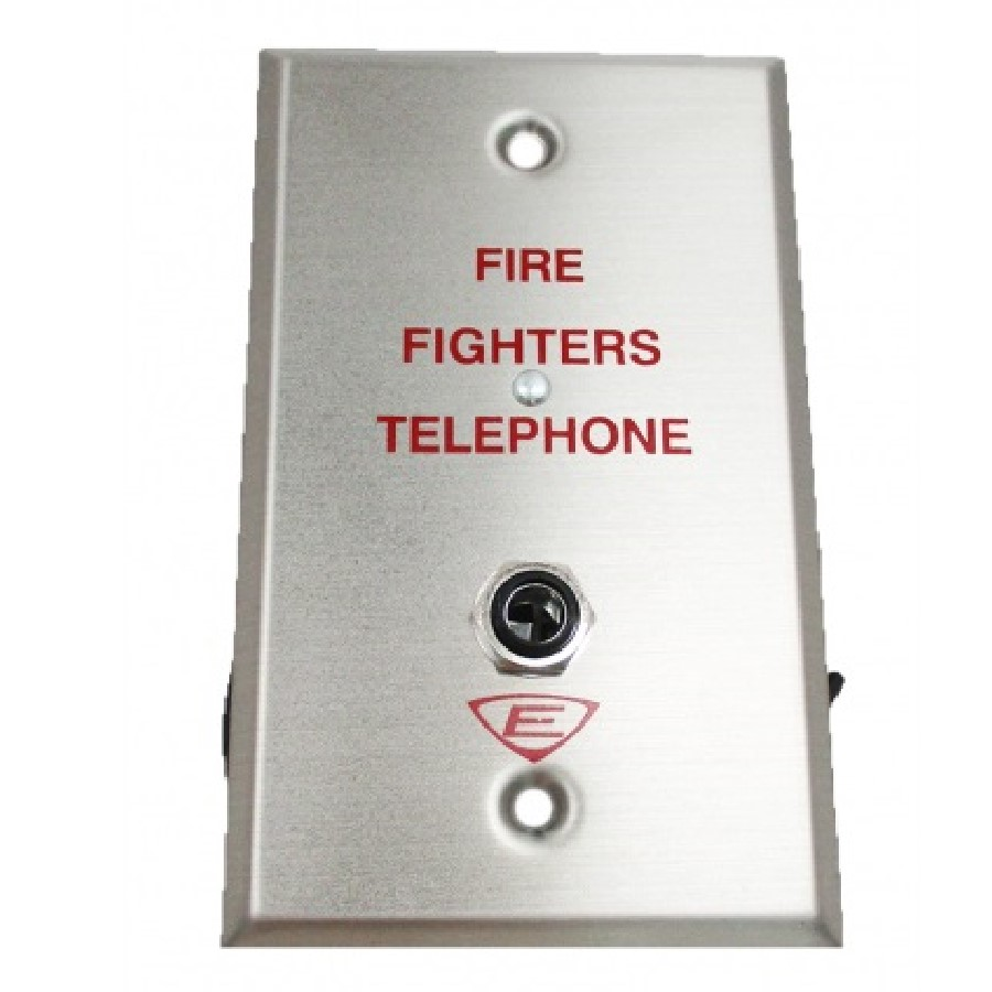 Edwards Signaling 6833-4 | Firefighters Telephone Wall Plate