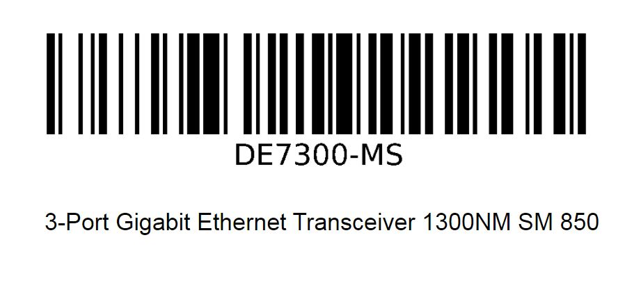 Interlogix DE7300-MS | 3-Port Ethernet Gigabit Transceiver 1300NM