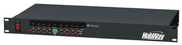 Altronix HUBWAY82CD | 8 Channel UTP Transceiver Hub, Rack Mount Kit