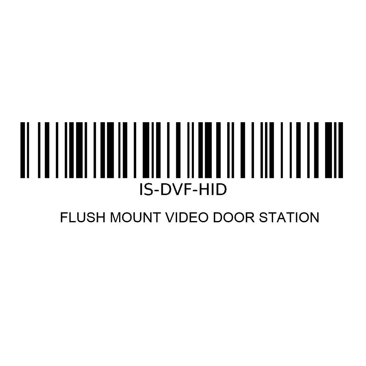 Aiphone IS-DVF-HID | FL VIDEO DOOR STN W/ HID PROX