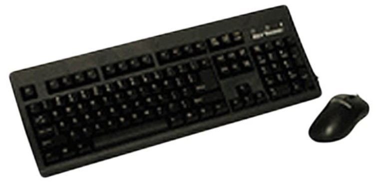 Key Tronic KT800P2M | 104-Key Keyboard and Optical 2 Button Wheel Mouse