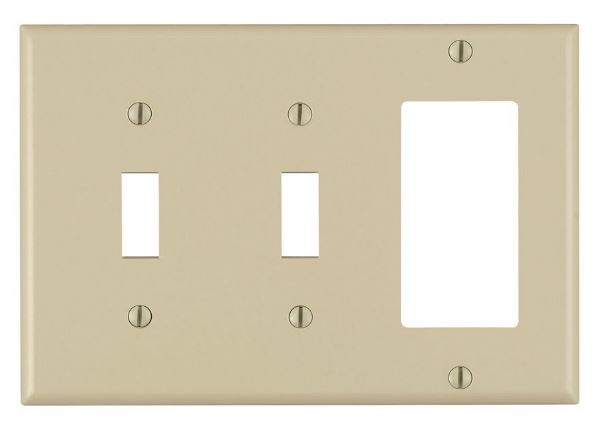 Leviton LV-80421I | 3-GANG 2-TOGGLE 1-DECORA-GFCI