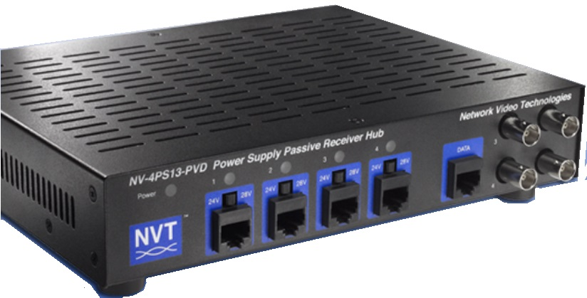 Network Video Technologies NV-4PS13-PVD | 4CH PWR SPLY PASSIVE RCVR HUB