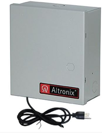 Altronix ALTV248UL3 | CCTV PWR SPLY, 8 FUSED OUT, 24VAC @ 3.5A / 28VAC @ 3A, ENCL, 3 WIRE CORD