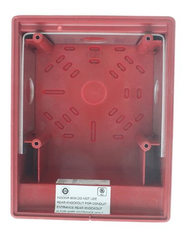 Edwards Signaling G4RB | SURFACE BOX,RED