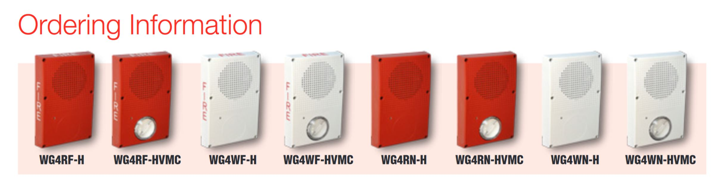 Edwards Signaling WG4RF-H   OUTDOOR,HORN,RED,FIRE