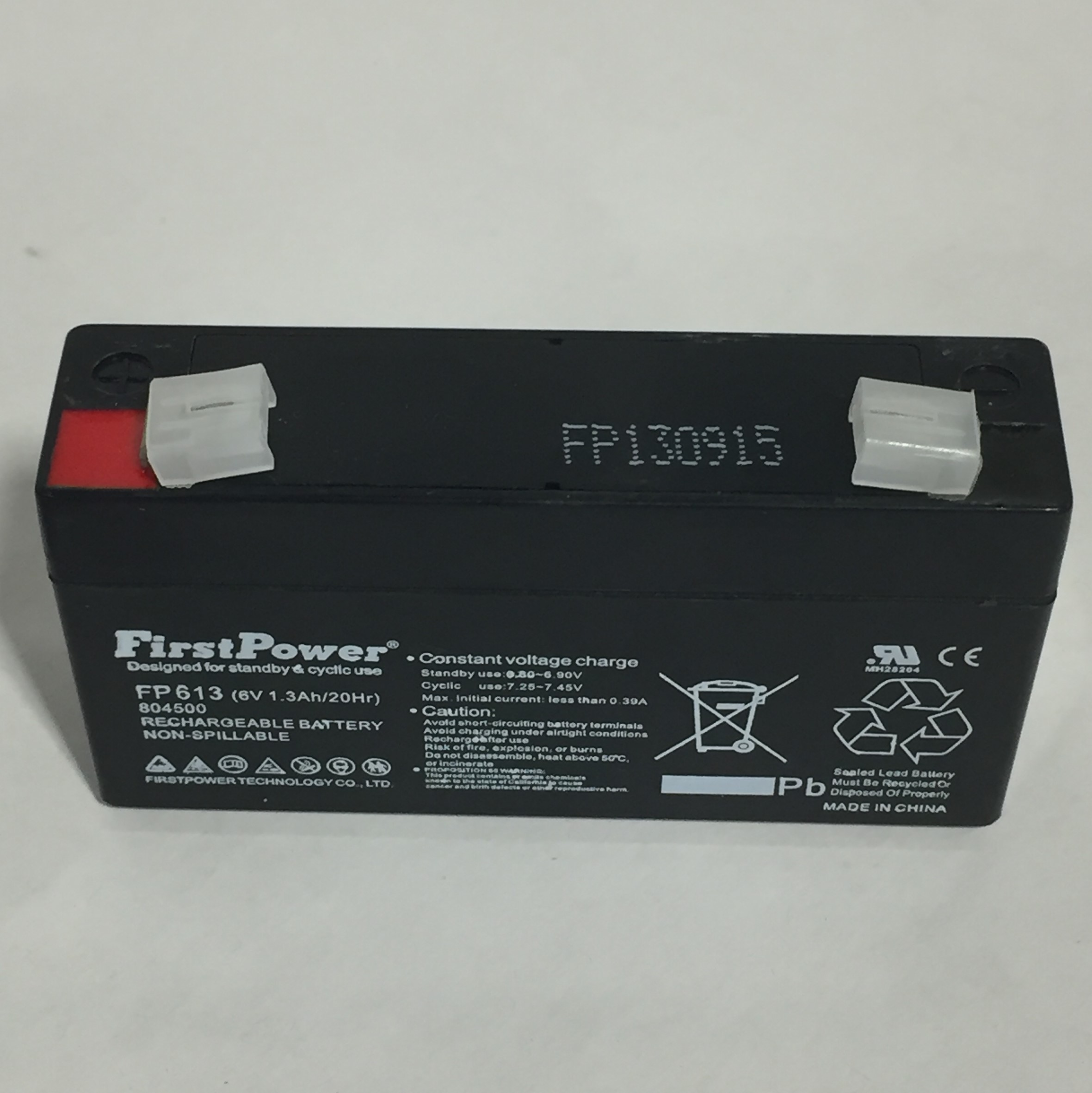 FirstPower 804500 | BATTERY 6 VLT1.3 AH SLD LD ACD